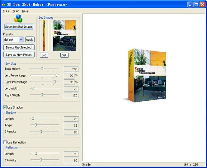 3D Box Shot Maker Screenshot 1