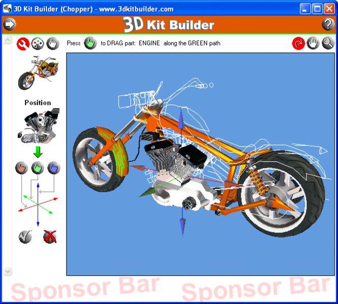3D Kit Builder (Chopper) Screenshot 1