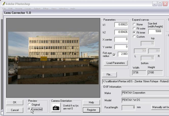 Proxel Lens Corrector Screenshot