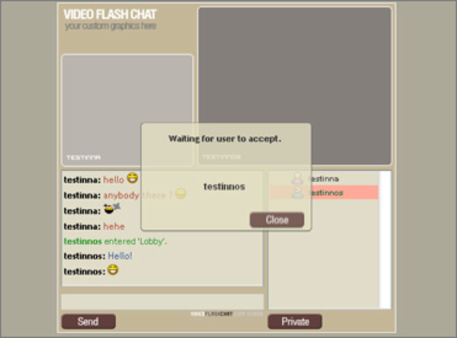 Video Flash Chat - Videochat Software Screenshot