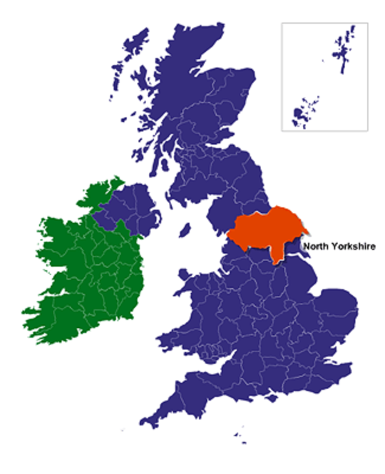 UK and Ireland Online Map Locator Screenshot