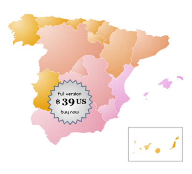 Spain Online Map Locator Screenshot