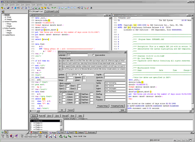 Multi-Edit 2008 Lite for SAS Screenshot