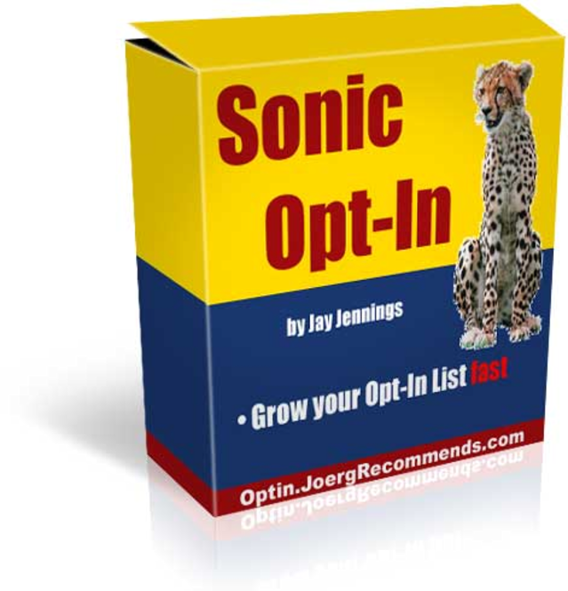 Sonic Opt-In Screenshot