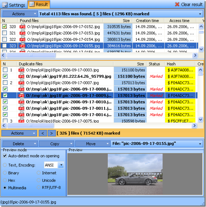 Duplicate File Detector (Personal License) Screenshot