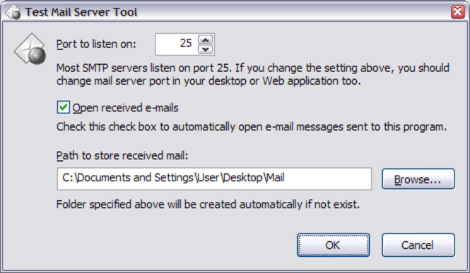 Test Mail Server Tool Screenshot
