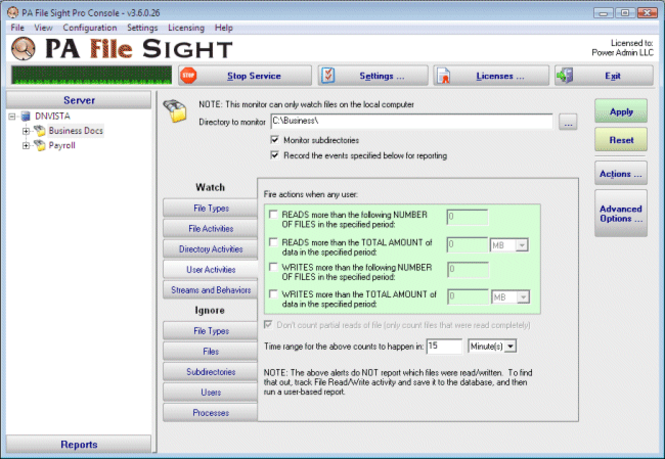 PA File Sight Screenshot