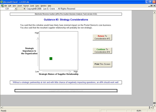 eRA Pre-Auction Decision Analysis Tool Screenshot 1