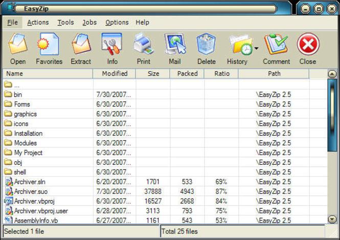 EasyZip Screenshot 1