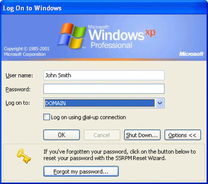 Reset Password Management Screenshot