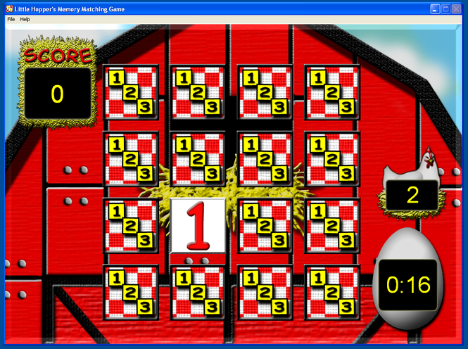 Little Hopper's Memory Matching Game Screenshot 1