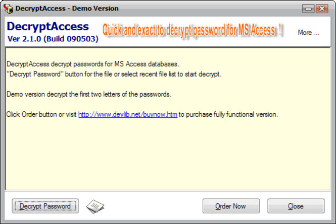 DecryptAccess Screenshot 1