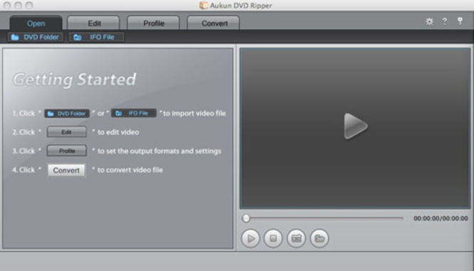 AuKun DVD Ripper for Mac Screenshot