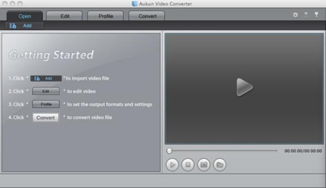 AuKun Video converter for Mac Screenshot