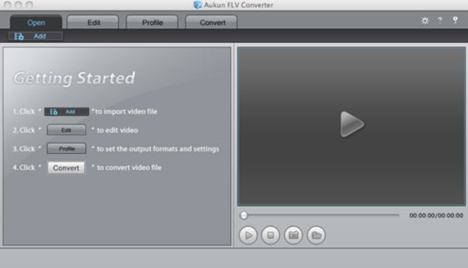 AuKun flv converter for Mac Screenshot