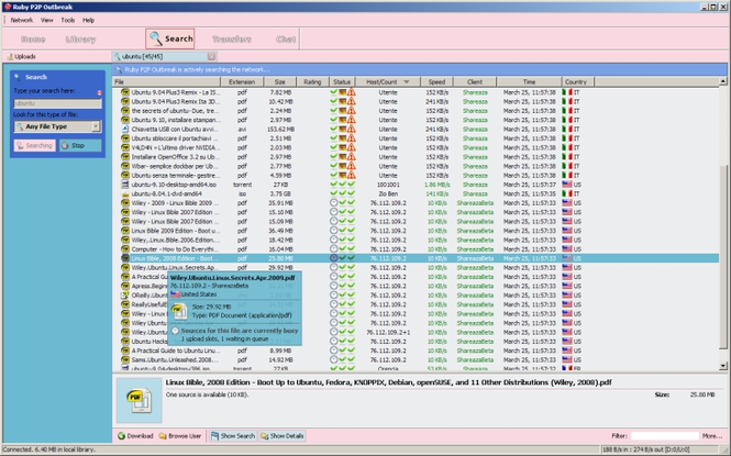 Ruby P2P OutBreak Screenshot 1