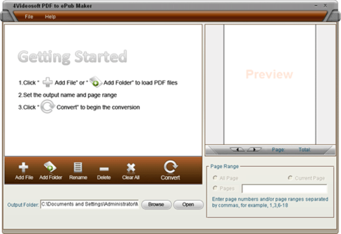 PDF to EPUB Converter Screenshot 1