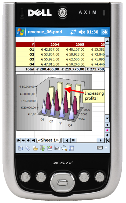 SoftMaker Office for Windows Mobile Screenshot