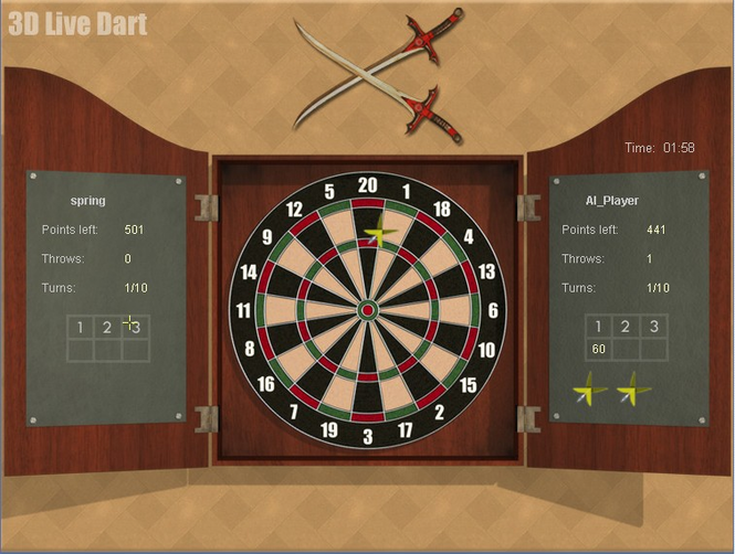 Arcade Online Darts Screenshot