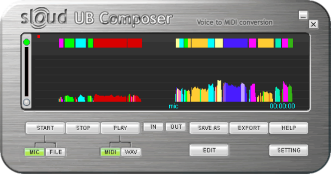 Sloud UB Composer Screenshot