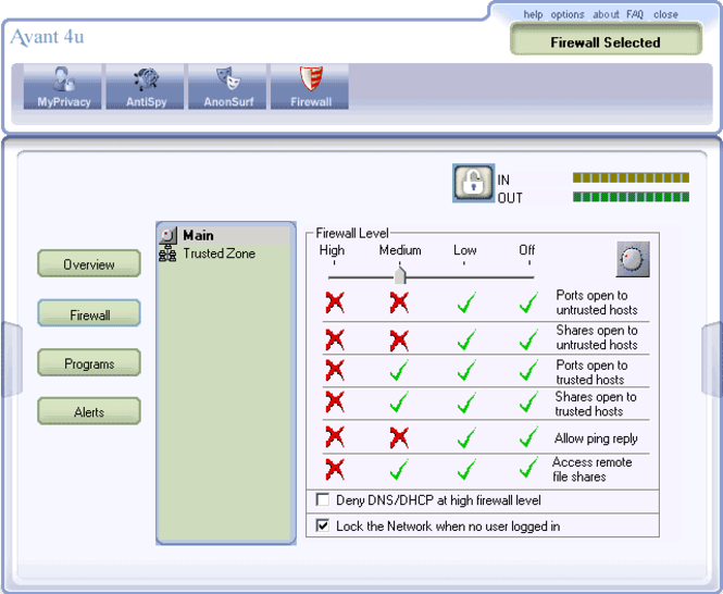 Avant4u Security Suite Screenshot