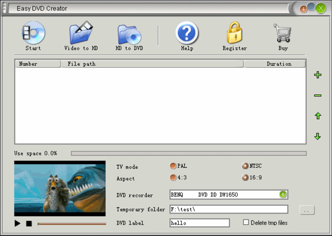 Easy DVD Creator Screenshot