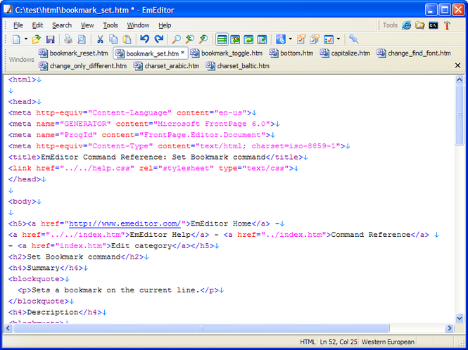 EmEditor Text Editor Standard Screenshot