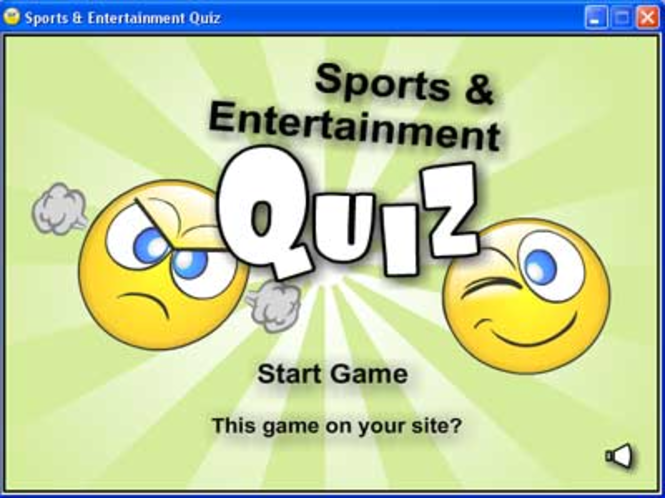 Sports and Entertainment Quiz Screenshot 2