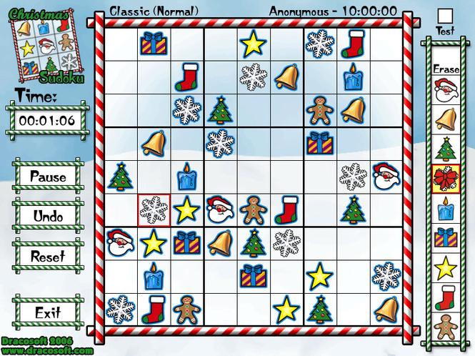 Christmas Sudoku Screenshot