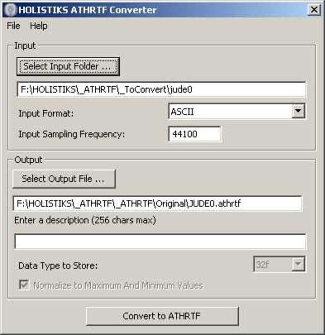 ATHRTF Converter Screenshot