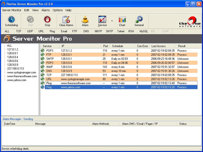 TheOne Server Monitor Lite Screenshot