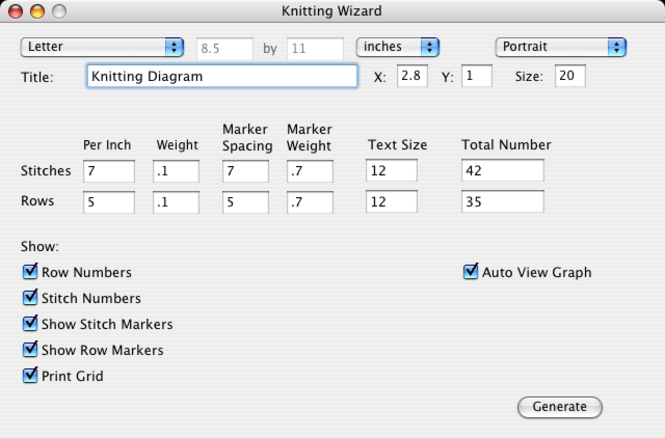 Knitting Wizard Screenshot