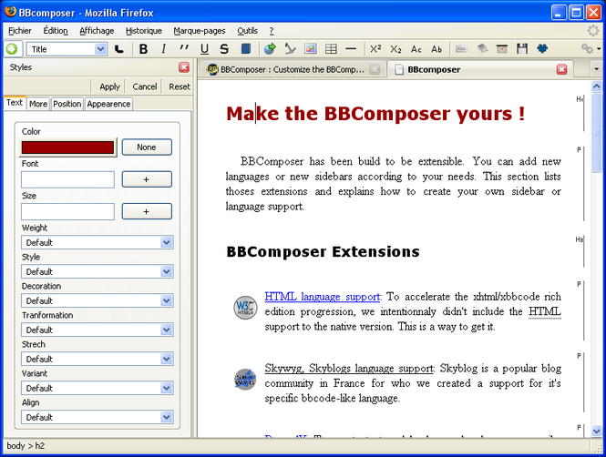 BBComposer Screenshot
