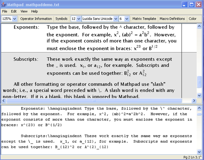 Mathpad Screenshot