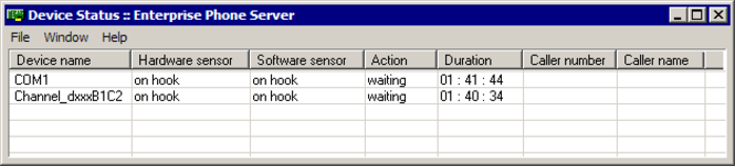 Enterprise Phone Server Screenshot
