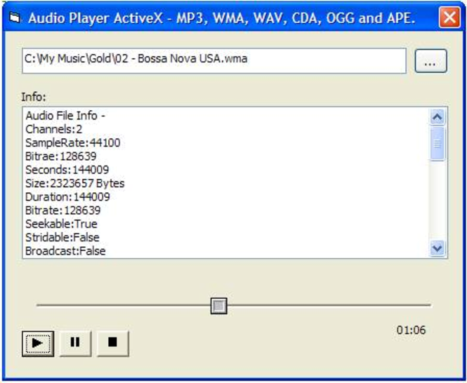 OGG APE Player ActiveX (OCX) Screenshot
