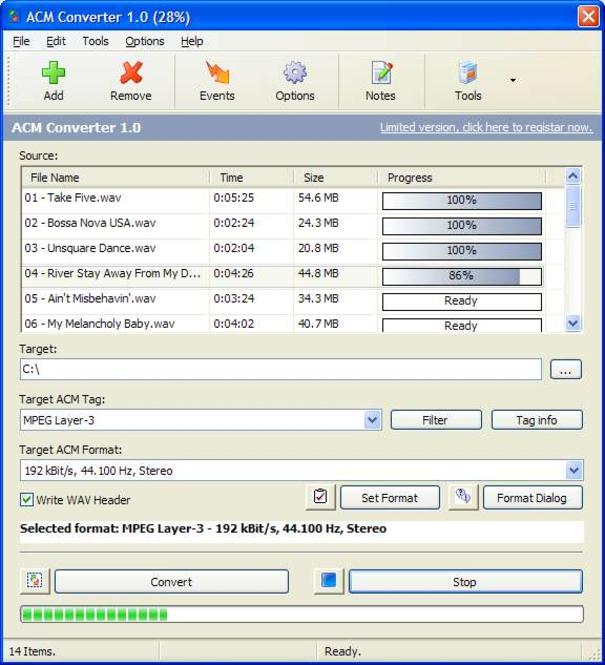 ACM Converter Screenshot