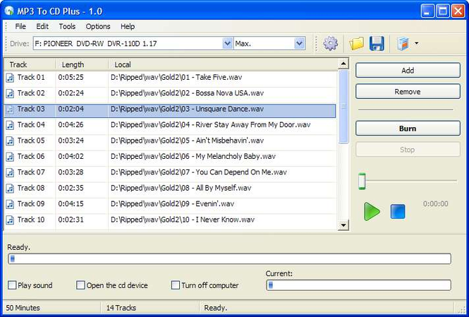 MP3 To CD Plus Screenshot