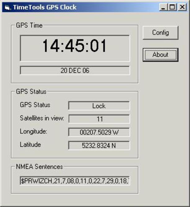 GPS Clock Screenshot 1