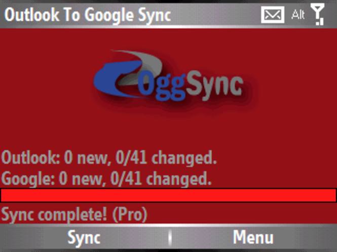 OggSync Freeware Screenshot
