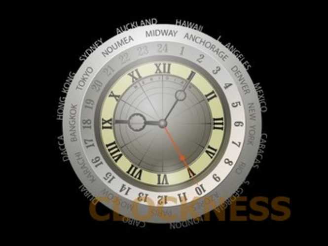 Meridian Clock Screensaver Screenshot