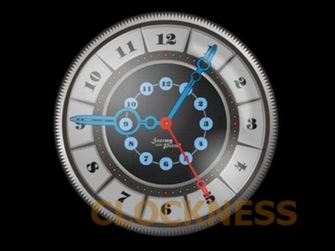 Stormy Clock Screensaver Screenshot 1