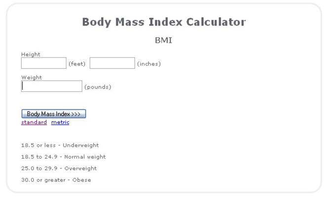 Weight Loss Calculator Screenshot 1