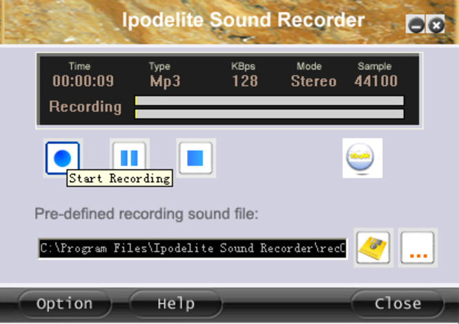 Ipodelite Sound Recorder Screenshot 1
