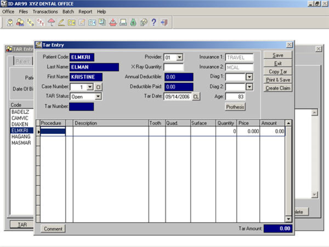 GCS DentOffice Screenshot