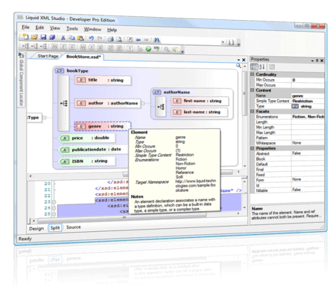 Freeware XSD Editor Screenshot