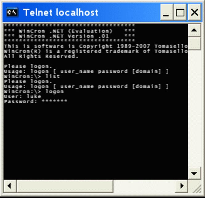 WinCron .NET Screenshot 1
