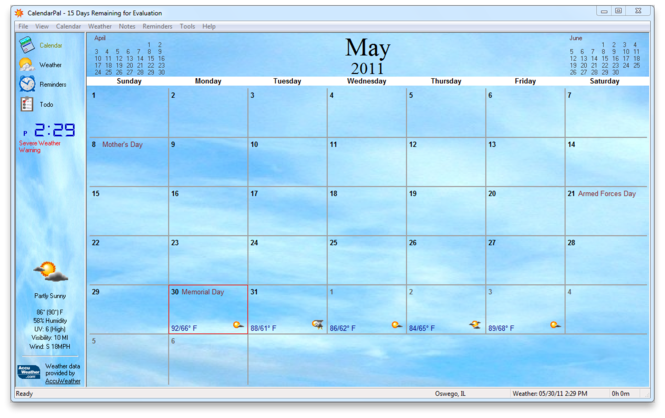 CalendarPal Desktop Calendar Screenshot 2