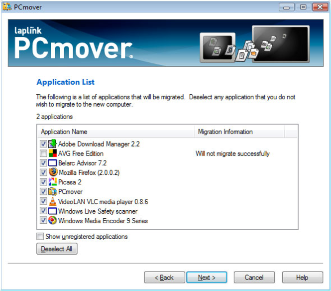 PCmover Screenshot 1