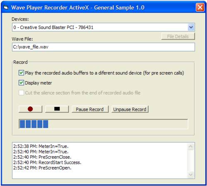 MIC Recorder ActiveX (OCX) Screenshot 1